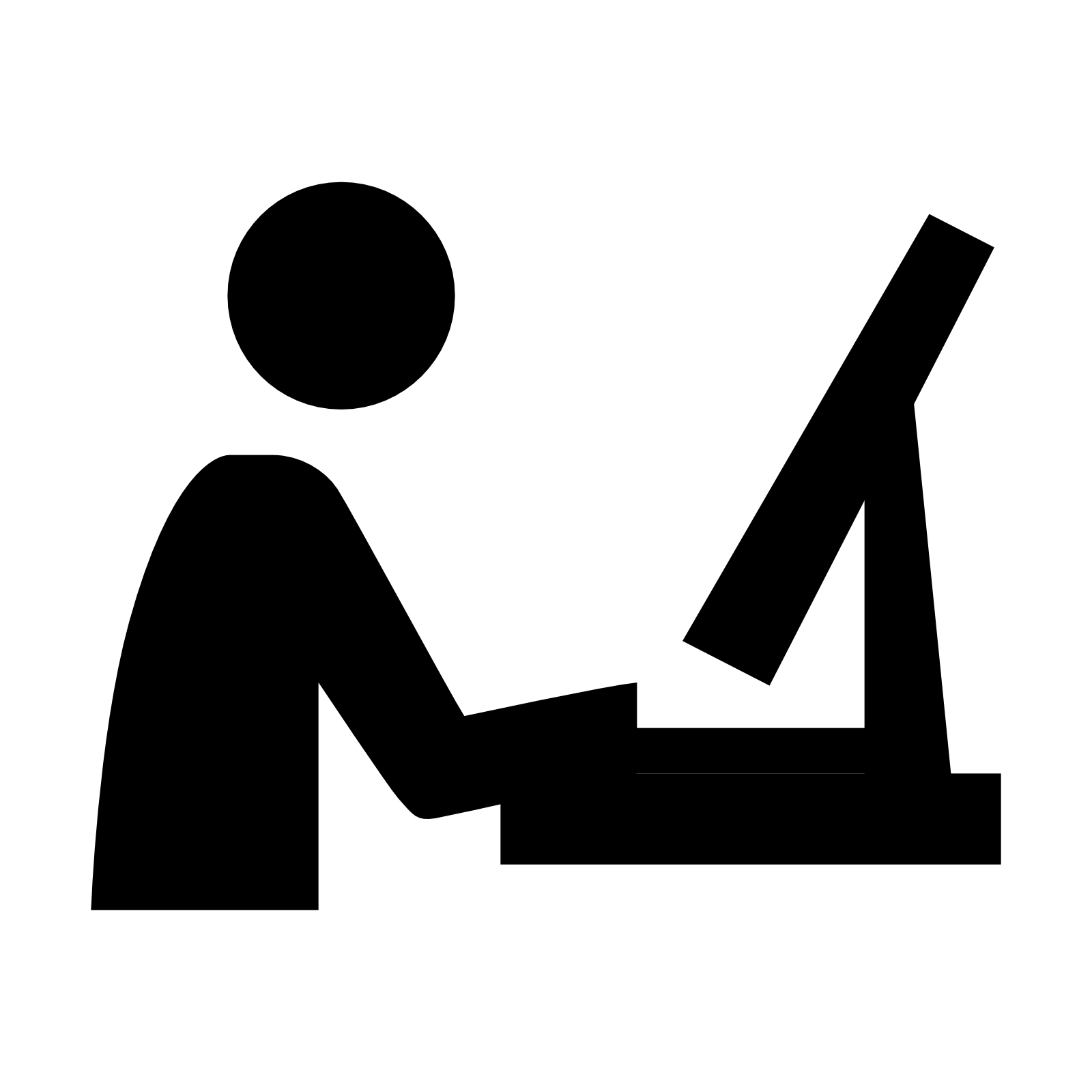 Black Computer Icon Png on a computer - ProPRc...